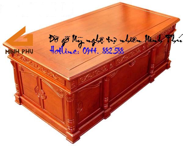 Bàn giám đốc gỗ Hương tự nhiên cao cấp- BGĐ005