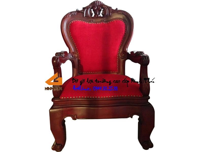 Ghế phòng họp gỗ gụ giá rẻ -GHT015