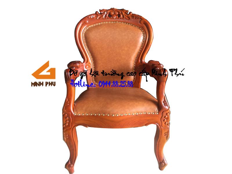 Ghế làm việc gỗ tự nhiên GGĐ 023